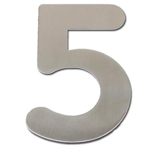 House Door Number (5) 20cm Stainless Steel brushed sign Model ELECSA 0180