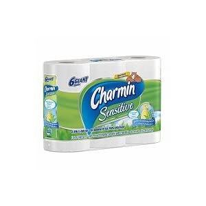 Charmin Sensitive Bath Tissue, Giant Rolls 6 pk
