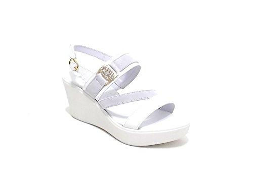 Susimoda scarpa donna, modello sandalo 234740, in camoscio, colore bianco