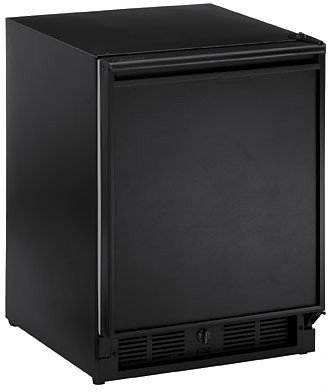 CO29FB-00 U-Line 1000 Series Undercounter Refrigerator/ Ice Maker Combination Frost Free - Black - Field Reversible