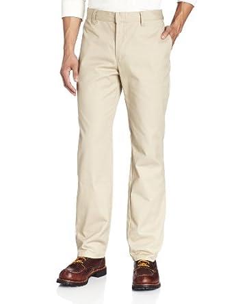 Lee Uniforms Men's Slim Straight Core Pant, Khaki, 28Wx30L