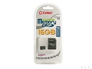 Cellet 16GB LG Marquee Micro SDHC Card is Custom Formatted for digital high speed, lossless recording! Includes Standard SD Adapter.