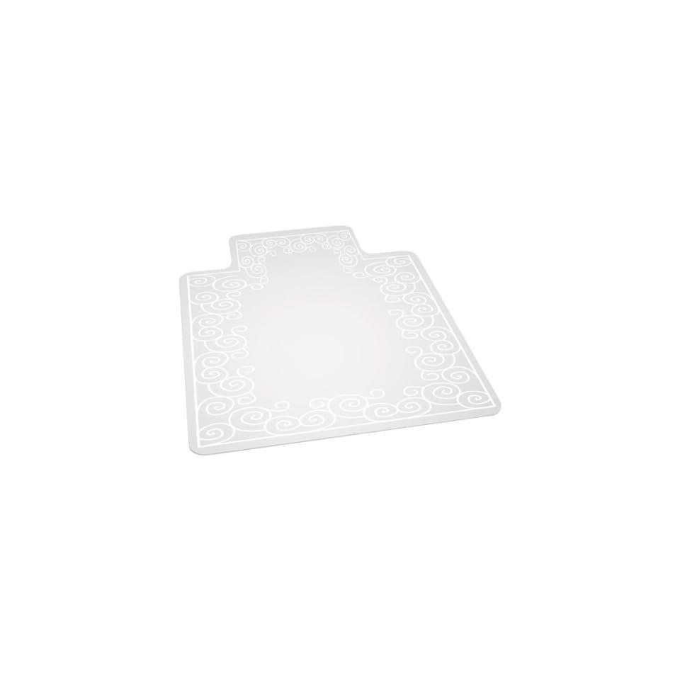 ES Robbins Swirl Design Series Chair Mat w/ Lip for Hard Floors (36 W x 48 L)