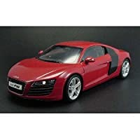 AUDI R8 COUPE 4.2 LITER V8 in レッド Diecast モデル Car in 1:18 Scale by Kyosho