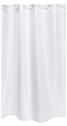 Shower Curtains Hookless Litchfield 71 By 74 Inch Fabric Shower Curtain White