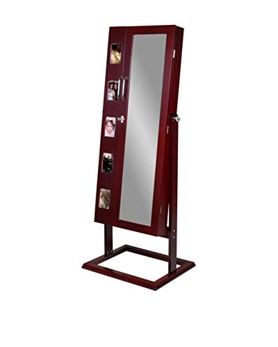 Baxton Studio Vittoria Standing Double Door Jewelry Armoire