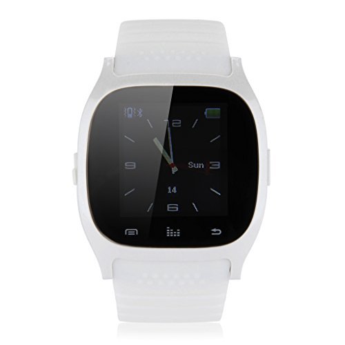 Floureon® R-Watch M26 Led Light Display Table Bluetooth Watch Sync Music/Phone Clock/ Message/ For Nokia / Blackberry / Feature Cellphone (White)
