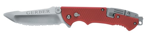 Gerber 22-41534 Hinderer Rescue Knife with Serrated Edge, Sheath and Tool-kit