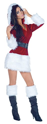 Underwraps Womens Sexy All Wrapped Up Santa Holiday Christmas Party Costume