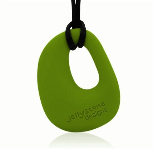 Organic Pendant - Silicone Necklace (Teething/Nursing) (Peapod Green)