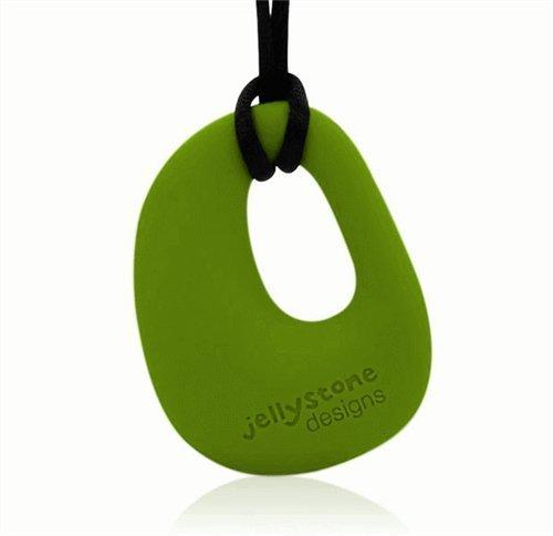 Organic Pendant - Silicone Necklace (Teething/Nursing) (Peapod Green)