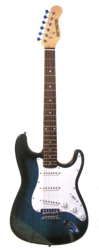 "Outlaw 39"" Inch Blue Full Size Electric Guitar & Gig Bag, Strap, Cable, Harmonica & Ebook"