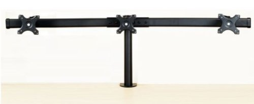 EZM Deluxe Triple Monitor Mount Stand Desktop Clamp Supports up to 3 28