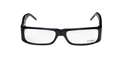 [Gianfranco Ferre 22901 Womens/Ladies Vision Care Light Weight Rectangular Full-rim Eyeglasses/Eyeglass Frame (53-16-125, Black / Shiny] (Diy Aviator Costume)