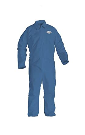 Kimberly-Clark KleenGuard A65 Flame Resistant Fabric Coverall, Disposable, Blue