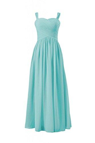 Daisyformals Sweetheart Long Bridesmaid Dress With Straps(Bm800L)- Tiffany Blue