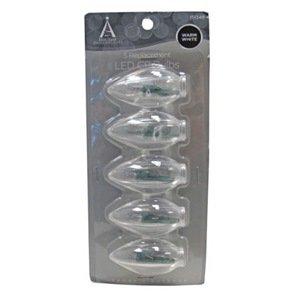 Noma/Inliten-Import 11229-88 C9 Glass Bulb, 5-Pack