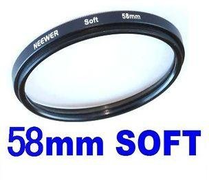 Neewer 58Mm Soft Diffuser Effect Portrait / Landscape Filter For Any Camera Lens With A 58Mm Filter Thread