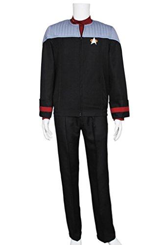CosplayNow Star Trek Nemesis Voyager Sisko Cosplay Costume Black XL (Star Trek Voyager Costume)