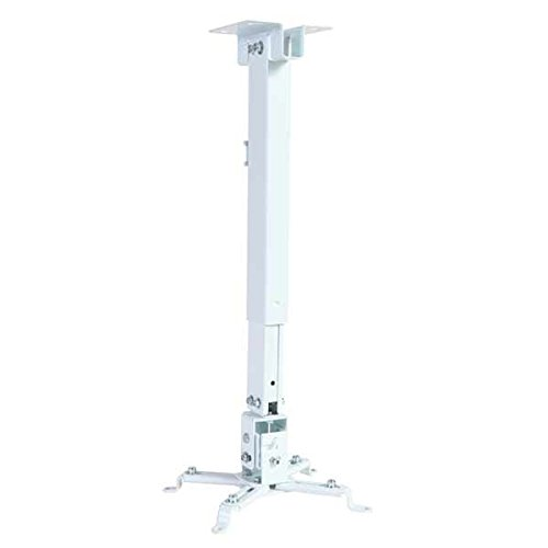 CNCT Heavy Duty (Weight Capacity - 15 KGS) 2FT UNIVERSAL PROJECTOR CEILING MOUNT BRACKET in WHITE for LED
