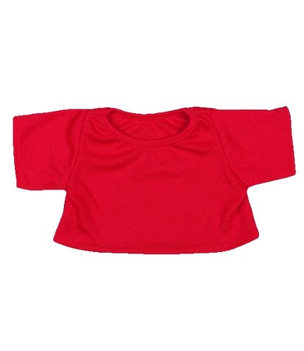 "Red T-Shirt Outfit Teddy Bear Clothes Fit 14"" - 18"" Build-a-bear, Vermont Teddy Bears, and Make Your Own Stuffed Animals"