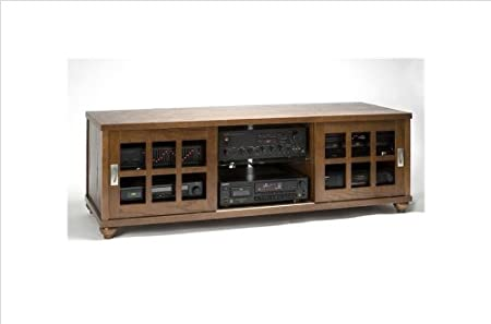 Sliding Door Flat Panel TV Cabinet (TVSD Series) Walnut
