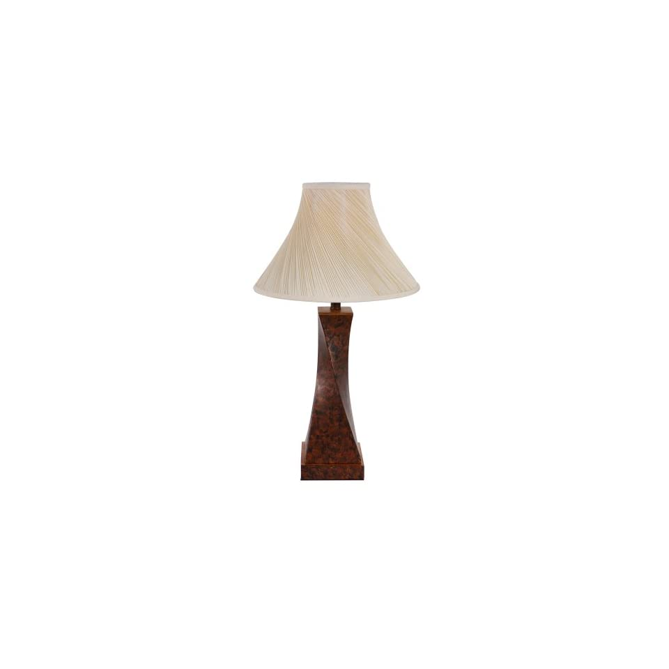 Yosemite Home Decor PTL5018 Portable Table Lamp with Beige Bell Shaped Shade and Twist Design