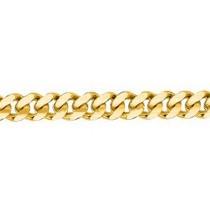 14K Solid Yellow Gold Gourmette Chain Necklace 3mm thick 24 Inches