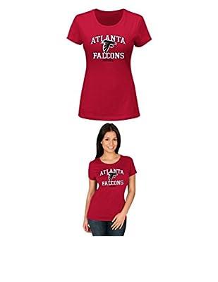 NFL Atlanta Falcons Women's Short Sleeve Crew Neck Tee, Large, Cardinal