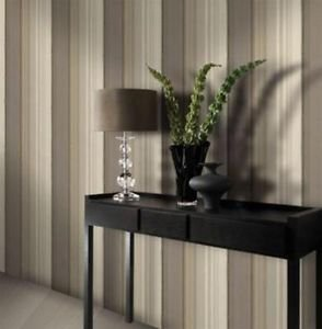 Gran Deco Elise Stripe Wallpaper - Taupe by New A-Brend