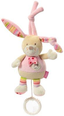 BABY FEHN Spieluhr Häschen in bunten Farben - süßes Geschenk zur Geburt oder Taufe