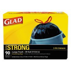 glad-70313-drawstring-outdoor-30-gallon-trash-bags-105-mil-30-x-33-black-pack-of-90-by-clorox
