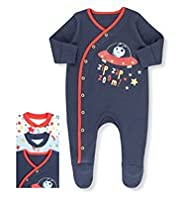 3 Pack Pure Cotton Space Sleepsuits