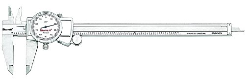 Starrett 3202-8 Dial Caliper, Hardened Stainless Steel, 0-8