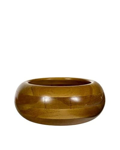 2 B Modern 1960s Round Wood Bowl, Multi