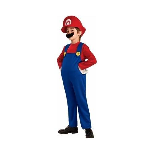 Rubies Costumes 186155 Super Mario Bros.  Mario Deluxe Toddler Child Costume