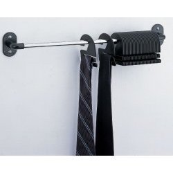 30 Tie Organizer - Wall Mounted (Chrome) (2.75