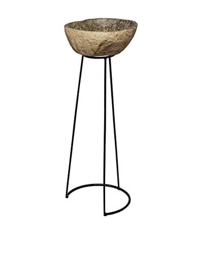 Artistic Lighting Stone & Wire Frame Pedestal, Natural