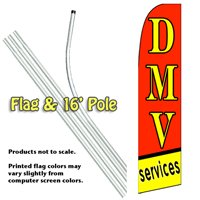 DMV Services Feather Banner Flag Kit (Flag & Pole)