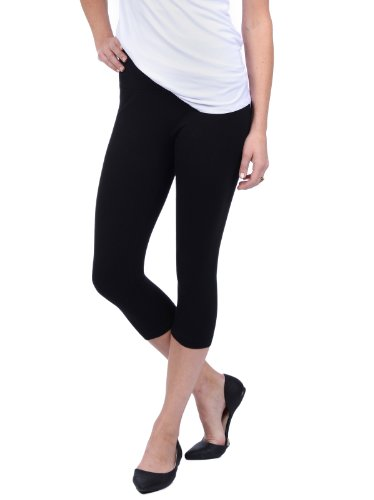 Lysse Spandex Capri Legging Fitness Yoga Pants (S) (Black)