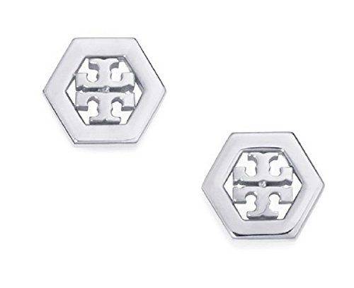 tory-burch-hex-logo-stud-earrings-silver-with-dust-cover-by-tory-burch