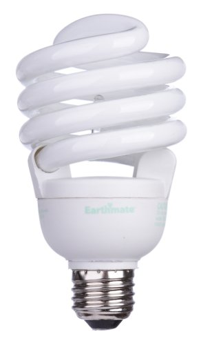 Earthmate EP3057AE 30-Watt Spiral CFL Full Spectrum Bulb, 6 Pack