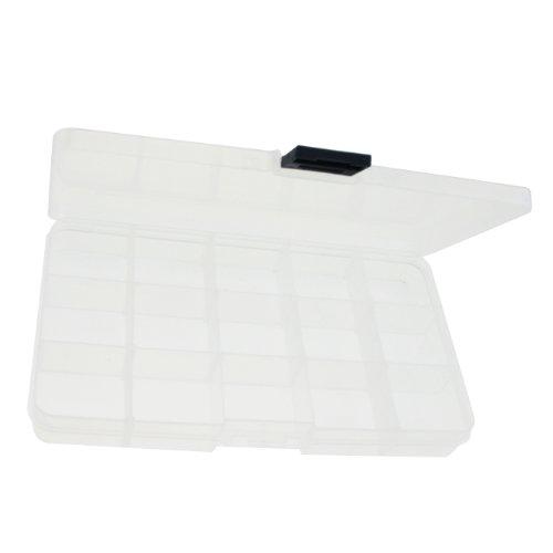 Tungsten Love Portable 15 Compartments Design Plastic Jewellery Boxes Transparent Storage Case Box