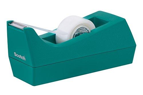 Scotch Classic Desktop Tape Dispenser, Blue, 1-Inch Core, 1 Dispenser (C-38-B) (Teal Office Supplies compare prices)