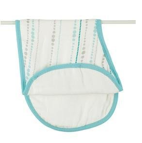 Aden + Anais Bamboo Burpy Bib Bundle - 2 Items: Azure Beads and Azure Solid Aqua