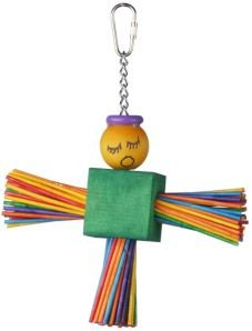 Super Bird Creations Stick Angel 8×6.5in Bird Toy