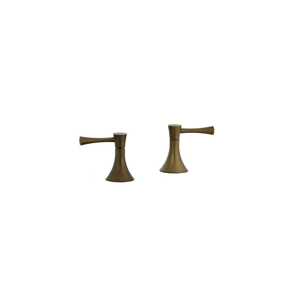 Cifial 245.670.V05 Brookhaven Deck Mounted 2 Handle Shower Valve Trim with Crown Lever Handles, Aged Brass
