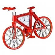Antique Fashion Model DIY Hand-assembled Bicycle Alarm Clock Red