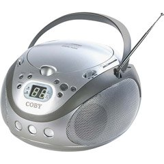 Coby CX-CD241 Portable CD Player with AM/FM Radio (Silver)