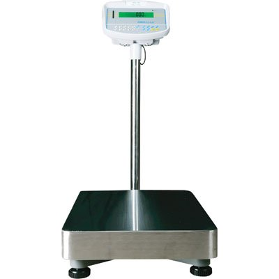 Adam Equipment Floor Scale with Stainless Steel Platform - 330Lb. Capacity, .35Oz. Accuracy